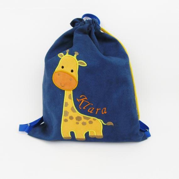 Plecak Z Zyrafa Worek Z Zyrafa Plecak Przedszkolaka Plecak Z Imieniem Worek Na Buty Personalizowany Prezent Personalizowany P Laundry Bag Baby Gifts Bags