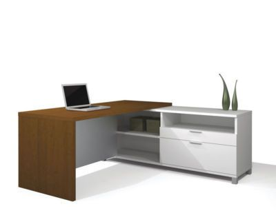 2pc L Shape Modern Executive Office Desk Set, #BE-PLN-L4