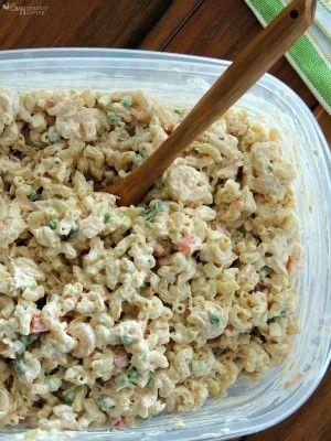 Creamy Shrimp & Tuna Macaroni Salad