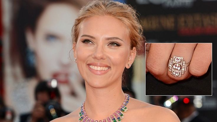 Scarlett Johansson Is Engaged! What do you think of her unique ring?