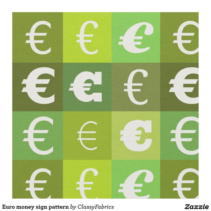 Euro money sign pattern fabric