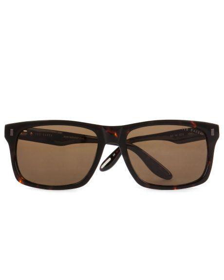 Square frame sunglasses - Dark Brown | Sunglasses | Ted Baker