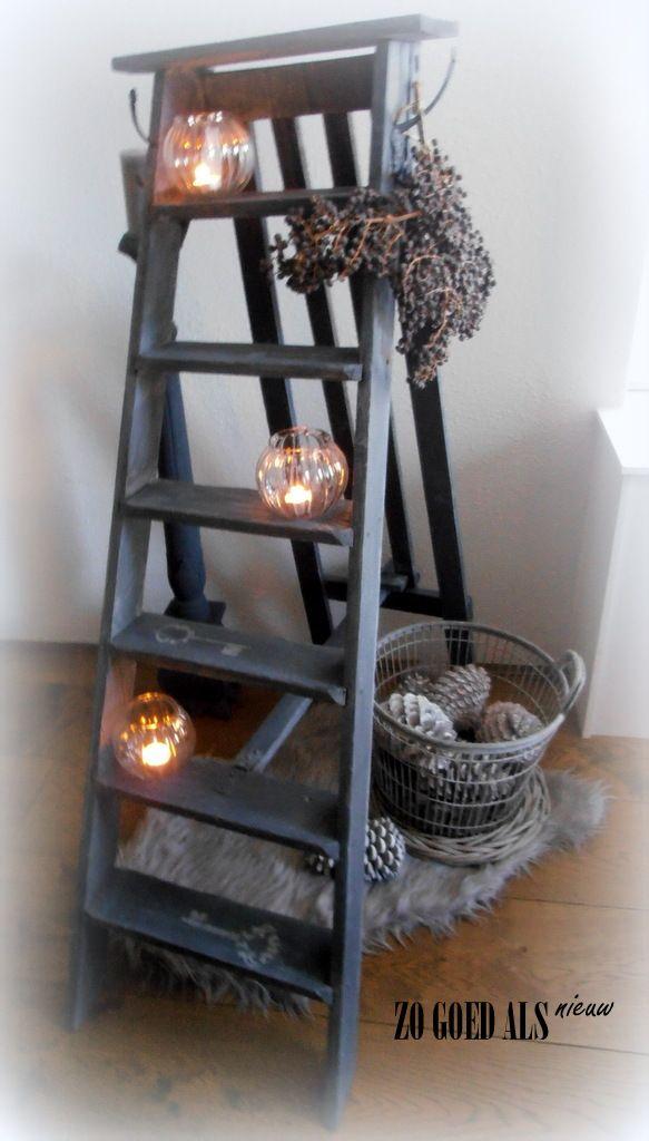 25 beste idee n over terras decoreren op pinterest for Decoratie ladder action