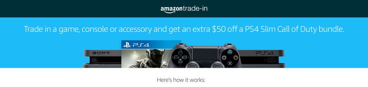 [Amazon] Trade in GamesConsoles and Accessories and get an extra $ 50 off on PS4 Slim Call of duty Bundle