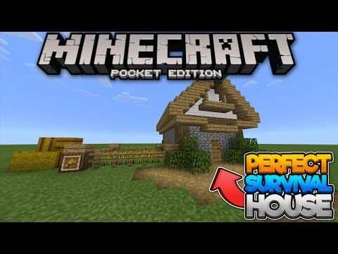 http://minecraftstream.com/minecraft-tutorials/house-tutorial-the-perfect-starter-house-for-survival-minecraft-pe-pocket-edition/ - [House Tutorial] The Perfect Starter House For Survival!  - Minecraft PE (Pocket Edition)  Today I show you how to build the survival house I built in my Survival Let's Play. I would say this would be perfect as a starter house in a survival world, and could be built on any version on Minecraft :D. This the the first house tutorial I have