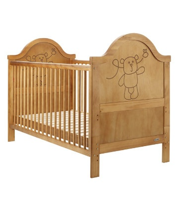 OBaby B is for Bear Cot Bed - Antique