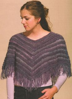 """""""Garter 'n' Lace Capelet"""" Designed by Doreen L. Marquart. Knit with """"Trekking XXL"""" from Skacel Collection."""