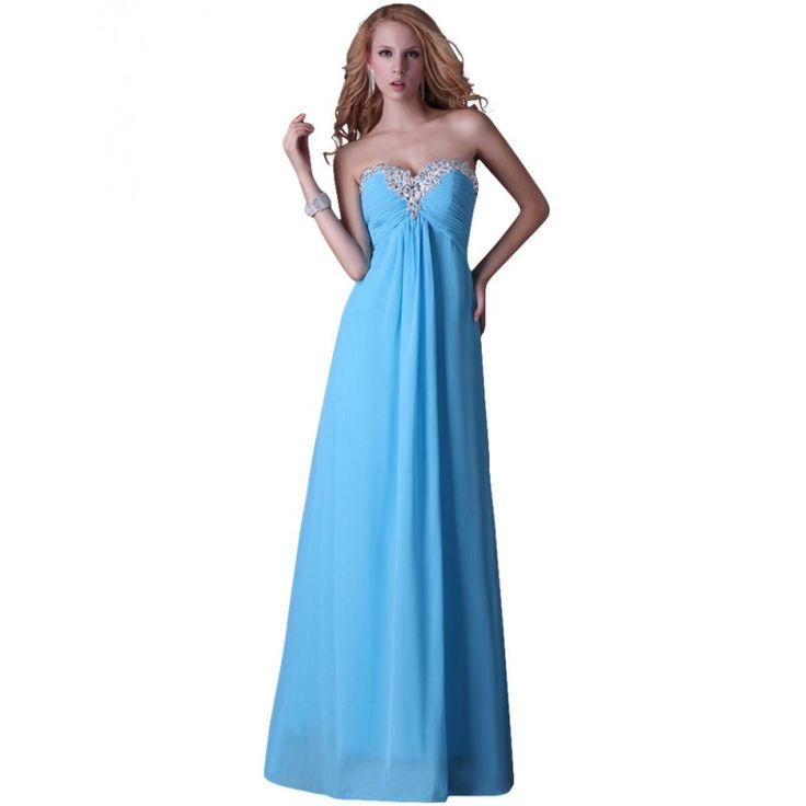 Modré spoločenské šaty CL3518