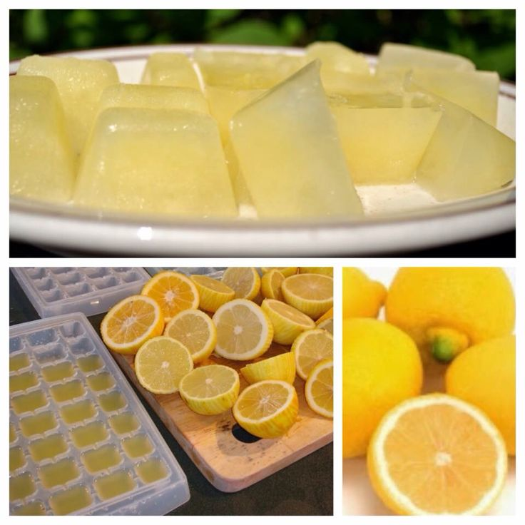 CITROEN IJSBLOKJES! Pers een paar citroenen uit, verwijder de pitjes. Neem een ijsblokjesvorm, giet daar de versgeperste citroensap in. Zet dit een paar uur in de vriezer en klaar zijn je citroen ijsblokjes! www.sonjabakker.nl
