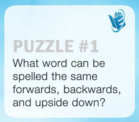 Do you know which word can be spelled the same forwards, backwards ...