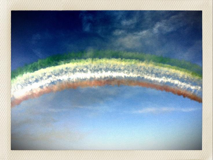 Arcobaleno tutto italiano :)) frecce tricolori
