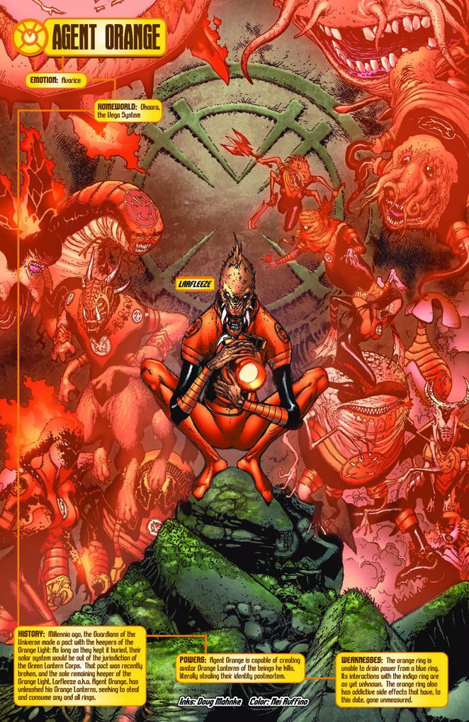 Larfleeze (Agent Orange) and his Orange Agents ...