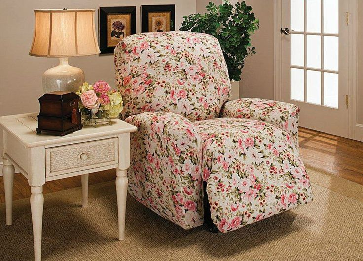 Madison Stretch Jersey Recliner Slipcover Large Floral Pink Stretches up to for a custom fit Soft and cozy knit fabric Machine wash and dry & 28 best Better Recliner Slipcovers images on Pinterest | Recliner ... islam-shia.org