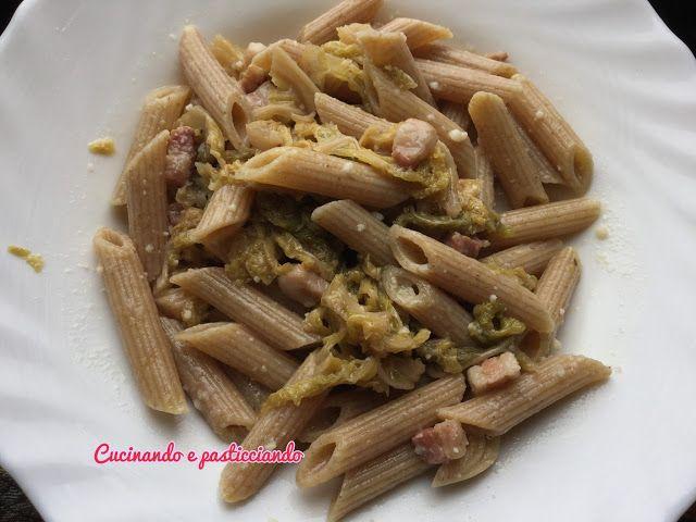 Cucinando e Pasticciando: Penne integrali con Verza e Pancetta