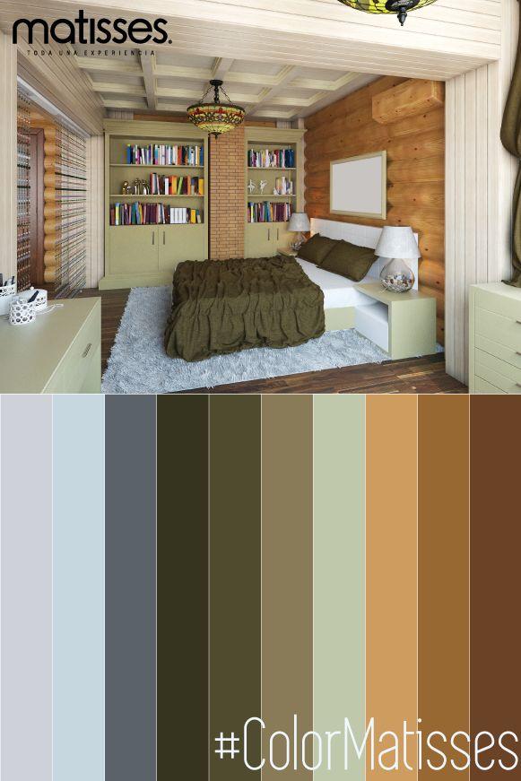 Usar una paleta de color con base en el verde oliva en la habitación, puede generar sensación de relajación.