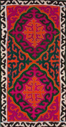 Rugs USA Shyrdak Felt Batma Damask Pumpkin Rug. Fun home decor, bright and vibrant area rugs!