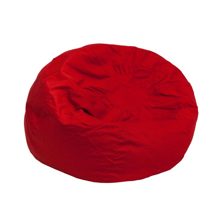 Small Solid Red Kids Bean Bag Chair DG-BEAN-SMALL-SOLID-RED-GG