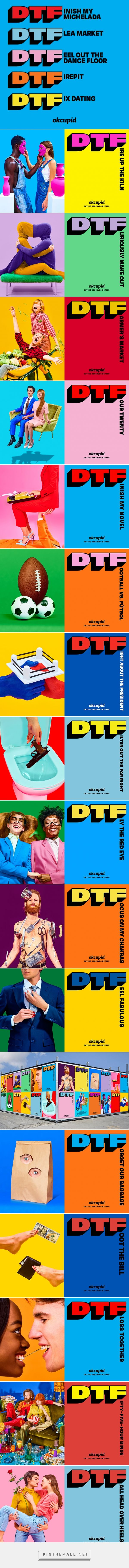 OkCupid Redefines 'DTF' in Striking Ads That Are Like Little Works of Art – Adweek - created via https://pinthemall.net