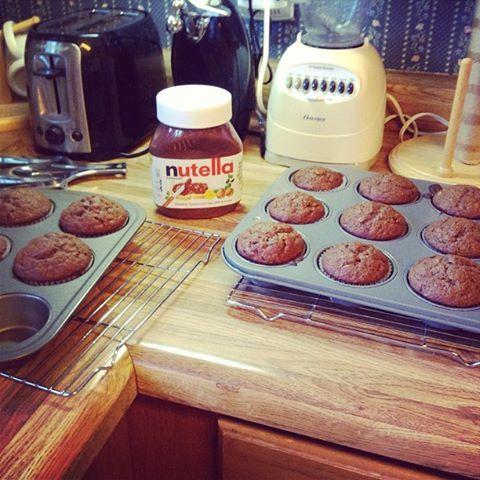 Nutella Banana Muffins recipe