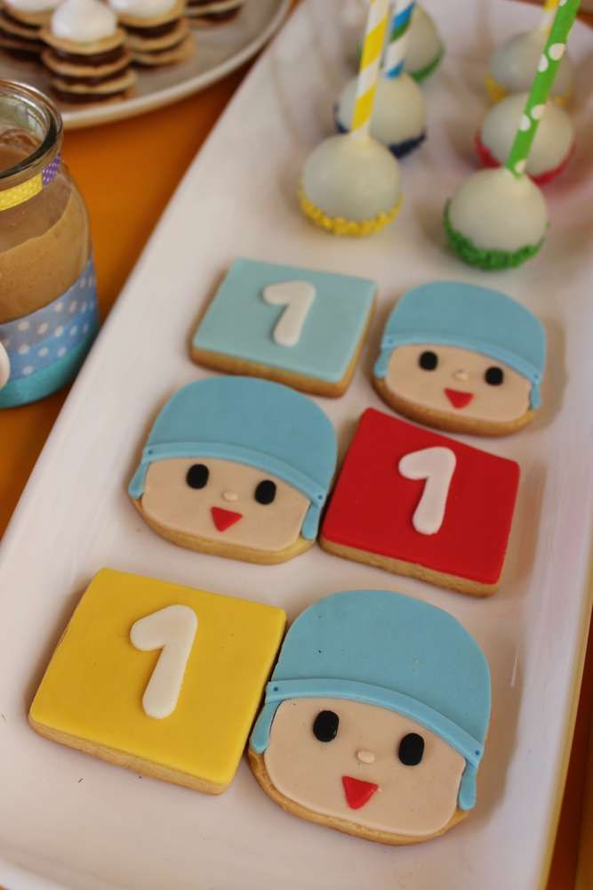 Cute cookies at a Pocoyo birthday party! See more party ideas at CatchMyParty.com!