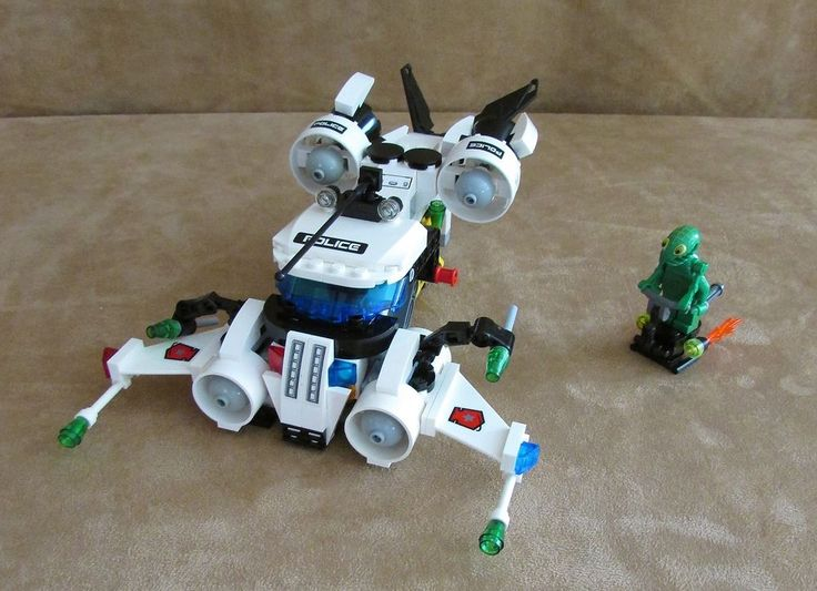 5971 Lego Space Police 3 Gold Heist complete alien minifig instructions #LEGO
