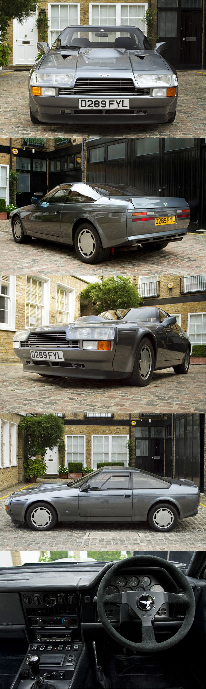 1986 Aston Martin V8 Vantage Zagato / 430hp 5.3l V8 / Hexagoncalssics / 89 produced / grey / UK / 17-359