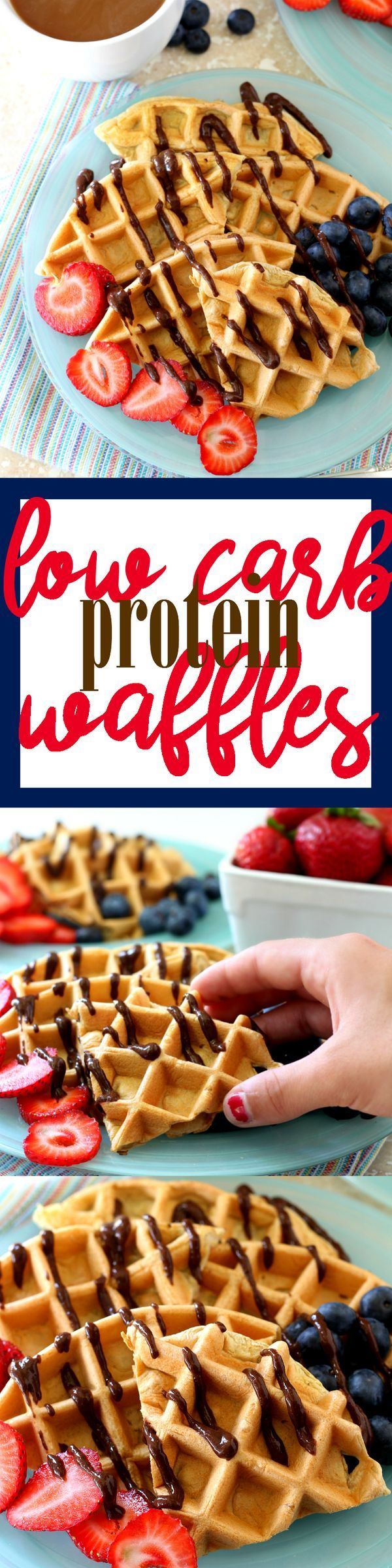 This breakfast recipe for Low Carb Protein Waffles is so simple, easy and healthy, but the best part is how out-of-this world delicious it is! (gluten-free, low-calorie)