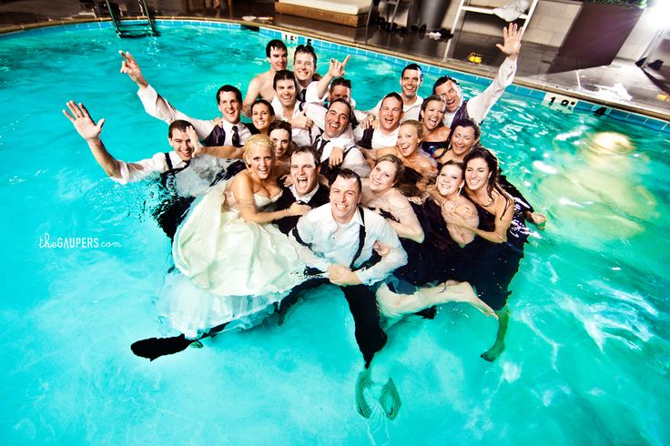 pool party wedding. Isn't Jana or Jamie abt to get engaged? Do the whole wedding & reception in the pool! Done & done!