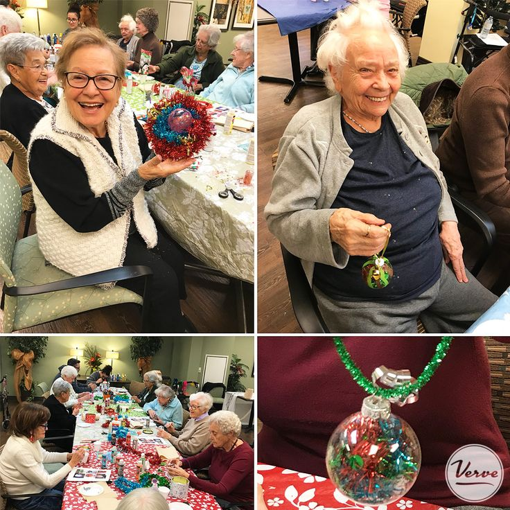 We are getting into the Christmas spirit with homemade holiday ornaments! 🎄🎅#homemadecrafts #creativeseniors