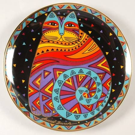 Franklin Mint Laurel Burch Contemporary Cats at Replacements, Ltd