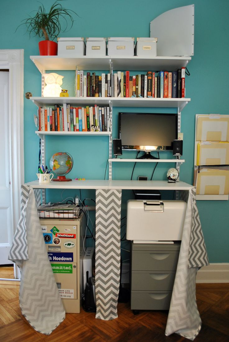 office closet design. Contemporary Blue And White Themed Home Office Design In The Closet With Modern Desk Furniture