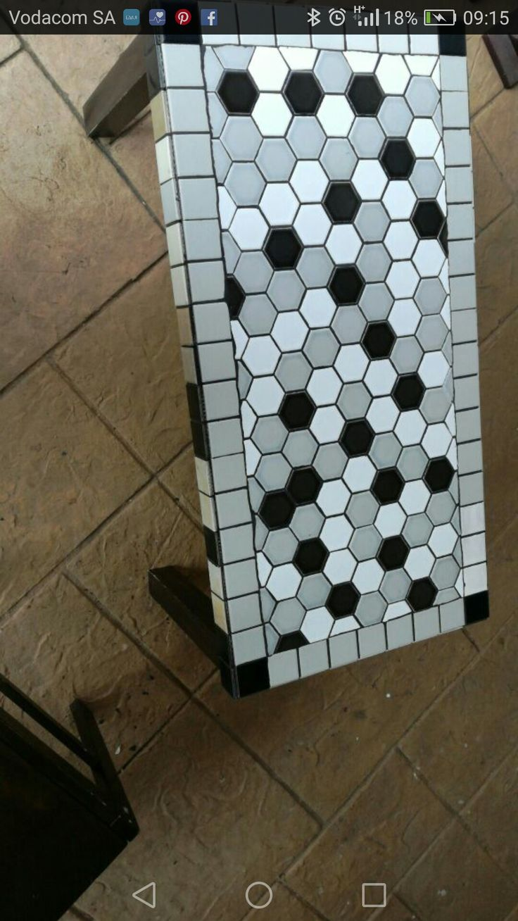 Honeycomb style mosaic coffee table