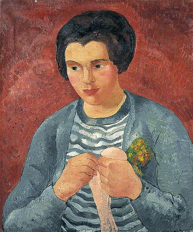 Girl Darning c. 1925-30 by Christopher Wood (English 1901 - 1930)