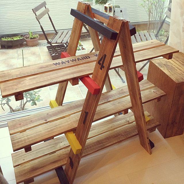 ブライワックス/すのこDIY/すのこで棚/多肉植物/植物/DIY…などのインテリア実例 - 2014-04-03 08:28:08 | RoomClip(ルームクリップ)