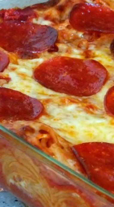 how to make pizza baked spaghetti