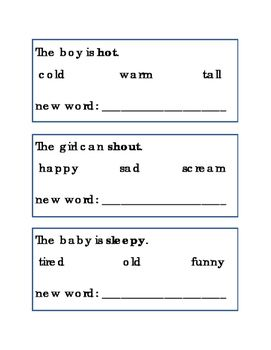Circle and Write Synonyms. Great for Reading Journal Supplement, Literacy Center, Writing Journal Supplement, ELA, Following Directions. Synonyms, same word meaning. Word Matching. English Printable Worksheets. 2 pages. Please check out more fun fantastic bargains: https://www.teacherspayteachers.com/Store/Word-Masters