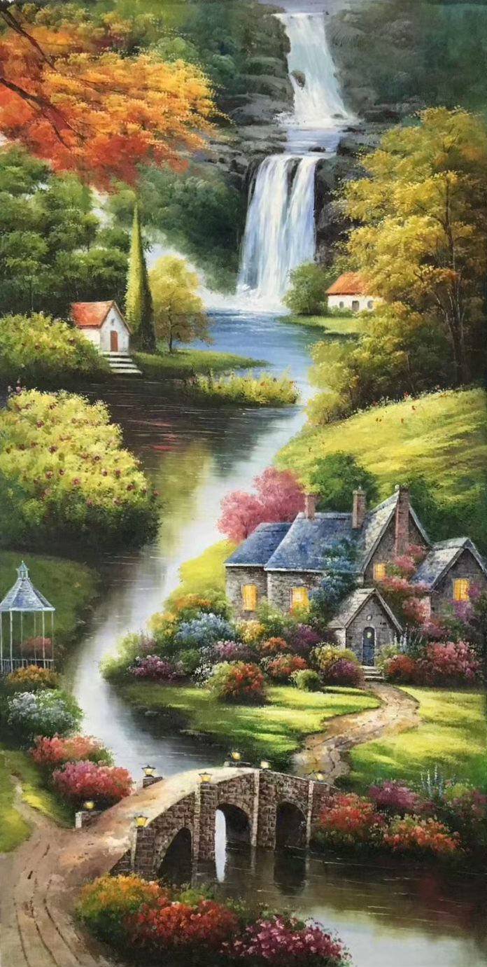 Id 461 Size 60x120cm 24 X48 Inch 100 Hand Made Oil Painting Decoration Murals Art Home De Scenery Paintings Landscape Paintings Landscape Paintings Acrylic