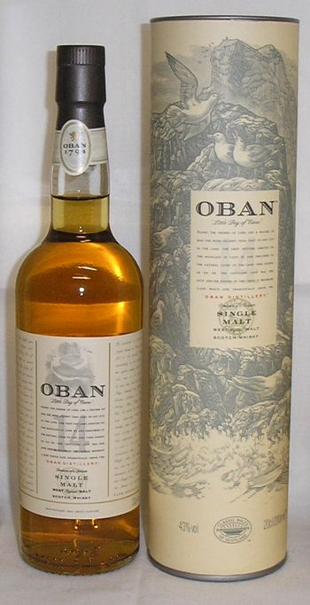 Darlin'? Aren't we going to Oban this week? Shall we sip some Oban whisky now just to get a taste for it?..........  Oban Single Malt Scotch Whiskey has been made at the Oban Distillery in Argyll  for over 200 years. They are one of the oldest licensed distilleries in Scotland.
