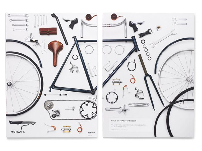.: Bicycles, Mohawks Superfin, Bikes, Paper Promotion, Graphics Design, Promotion Books, Vsa Partners, Transformers Paper, Prints Ads