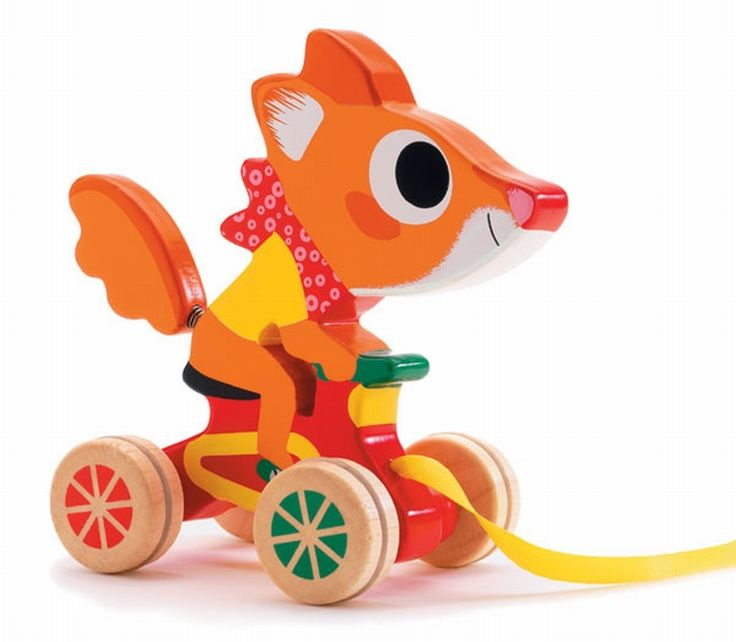 #Fox #Pull #Mobile #Wood by #Djeco from http://www.kidsdinge.com    https://www.facebook.com/pages/kidsdingecom-Origineel-speelgoed-hebbedingen-voor-hippe-kids/160122710686387?sk=wall     http://instagram.com/kidsdinge #Toys #Speelgoed #Kids #Kidsdinge #Sinterklaas