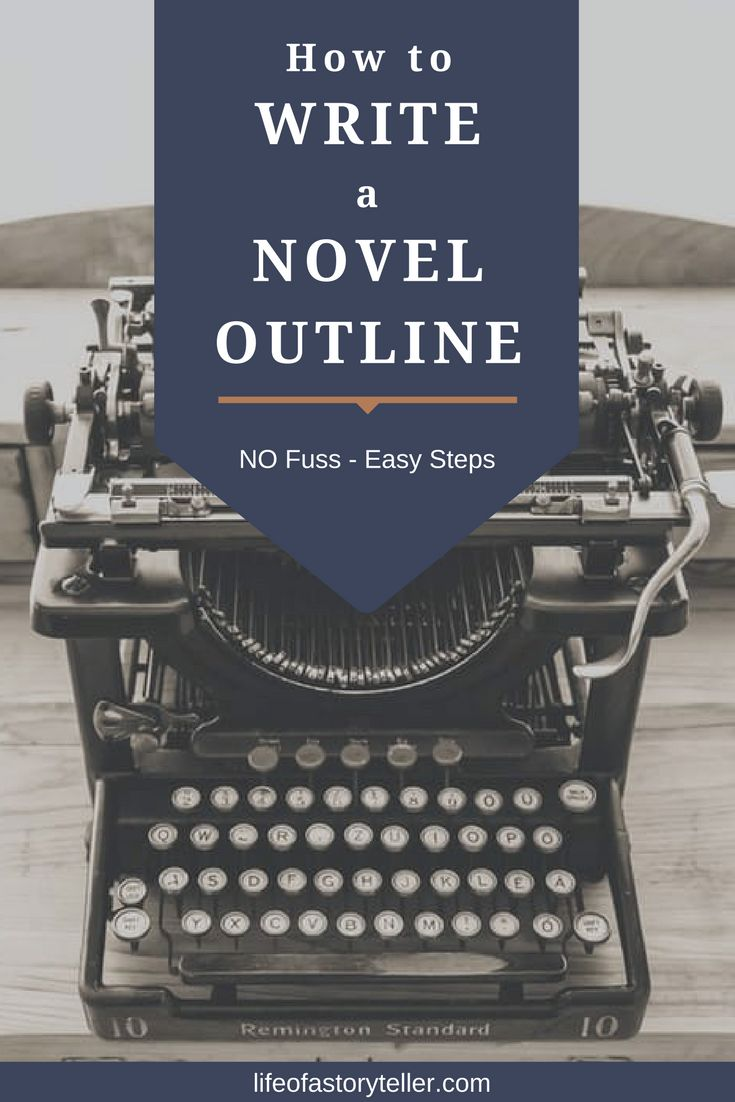 EASY steps to learn how to write a novel outline during the novel planning stage of the creative writing process.