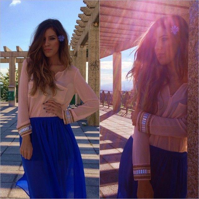 Looks con faldas largas azul klein - Trendtation