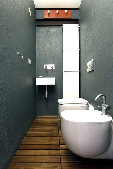 Baño estrecho y alargado #baños #bathroom | Baños ...