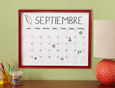 Calendario de borrado en seco