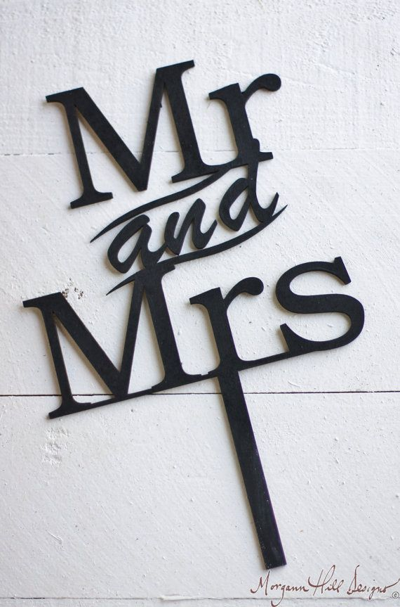 Mr & Mrs Wedding Cake Topper Rustic Wedding Decor (Item Number 140080)
