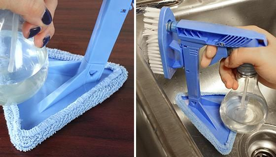 Product Details:  Here's the tool that makes cleaning so easy you can do it with one hand.The One Clean Hand is the helpful 3-in-1 cleaning tool that takes care of everyday messes. It combines three cleaning essentials - a sprayer, a brush, and a piece of cleaning cloth - which allows you to spray, brush, and wipe any filthy, dirty surface that needs it. And the spray bottle holds 10 ounces of liquid.Use it on windows, carpeting, desks, floors, and more. Plus, it's compact making easy to…