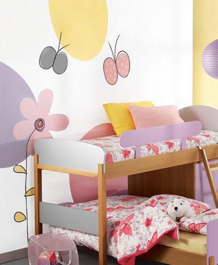 Ζωγραφική τοίχου σε δωμάτιο κοριτσιού σε παστέλ αποχρώσεις. Δείτε περισσότερες ιδέες διακόσμησης για το παιδικό δωμάτιο στη σελίδα μας  www.artease.gr