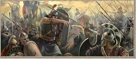 The fight for ancient Sicily -Battle of Himera - 480 B.C. Carthaginian army fighting Greek hoplites. It was one of the ancient world's greatest battles, pitting a Carthaginian army commanded by the general Hamilcar against a Greek alliance for control of the island of Sicily. After a fierce struggle in 480 B.C. on a coastal plain outside the Sicilian city of Himera, with heavy losses on both sides, the Greeks eventually won the day.