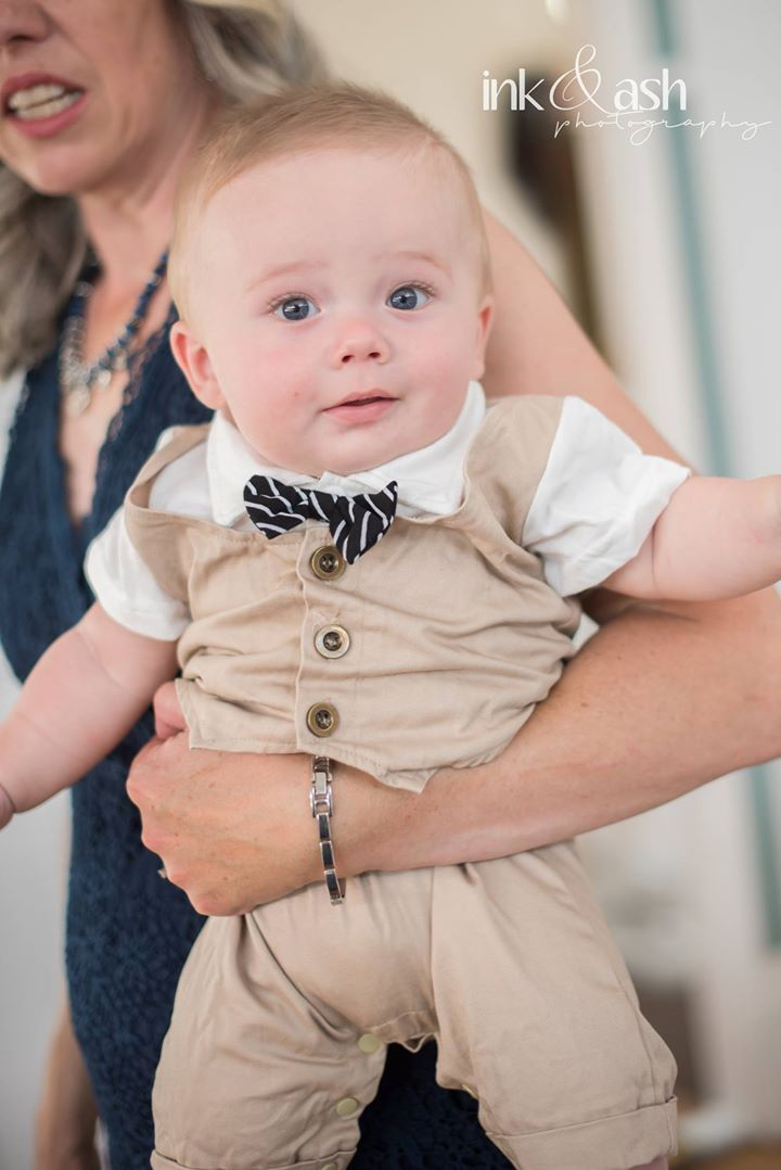 Bride & Groom's son. Photo by Ink and Ash Photography
