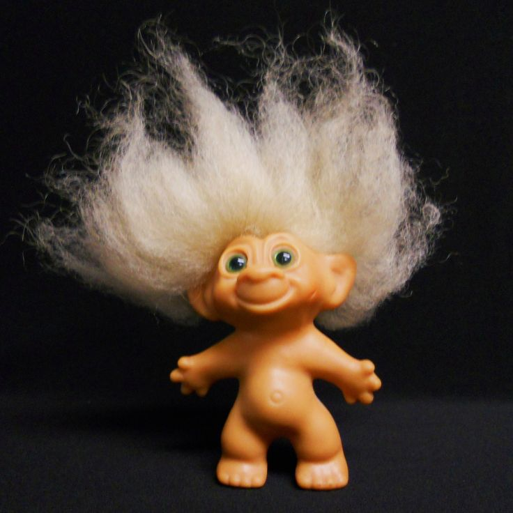 Troll Doll  /  Thomas Damn -- Danish man, who had trouble with his timing regarding getting a Patent. And so a lesser quality was made by 3 other companies using the very image specs, copycats. Poor Danish Mr. Damn (damn dolls)  They were the best ones. 1964